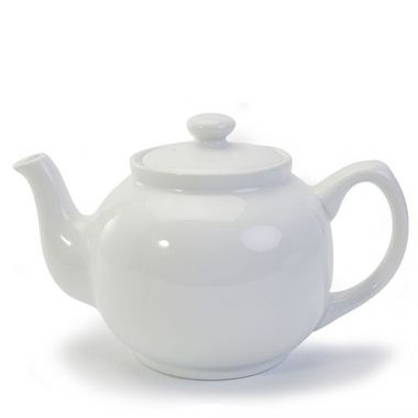 Danesco® Bia Teapot, White, 37 oz - RFS055/907024WH