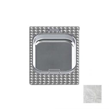 Tablecraft® Steam Table Pan Template / Adaptor Plate w/ 1 Rectangular Cutout, Stainless Steel - RFS558/CW1038RSS
