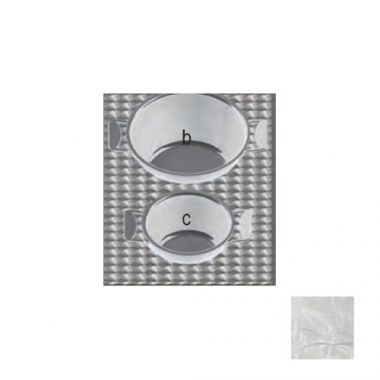 Tablecraft® Steam Table Pan Template / Adaptor Plate w/ 2 Round Cutouts, Stainless Steel - RFS558/CW1046RSS