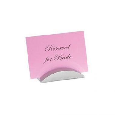 Tablecraft® Card Holder, Stainless Steel - RFS558/RCH41