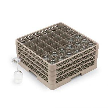 Vollrath® Traex® Full Size Glass / Stemware Rack w/ 36 Compartments - RFS1900/TR7CCC