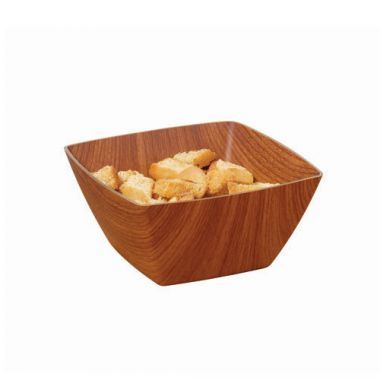 G.E.T.® Arbor™ Faux Wood Square Bowl, 1 qt (2DZ) - RFS689/B-SQ-6-M