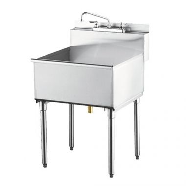 """Quest® Super Economy Sink, Single Compartment, 24"""" - RFS2163/125B-SES1C24"""