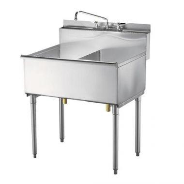 """Quest® Super Economy Sink, Double Compartment, 36"""" - RFS2163/125B-SES2C18"""