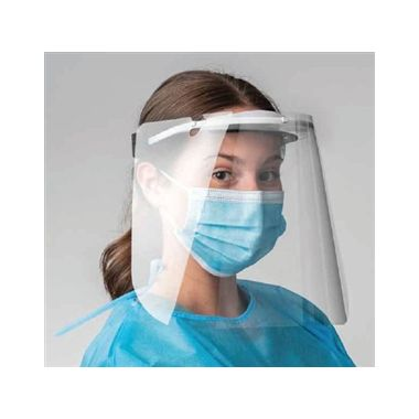 ProtectOn Sterilizable Clear Face Shield Red, Each