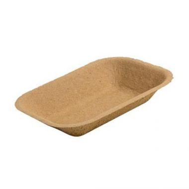 Eco-Packaging® Paper Pulp Tray, Medium, Brown (500/CS)- RFS3474/EP-#200