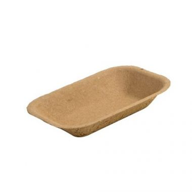 Eco-Packaging® Paper Pulp Tray, Small, Brown (1000/CS)- RFS3474/EP-#100