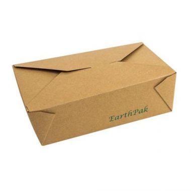 Eco-Packaging® EarthPak® Food Box / Container #3, Brown, 64 oz (200/CS)- RFS3474/EP#N3