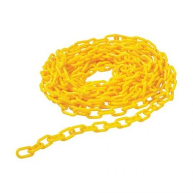 Rubbermaid® Barrier Chain for Floor Cones, Yellow, 20 ft - RFS152/FG618400YEL