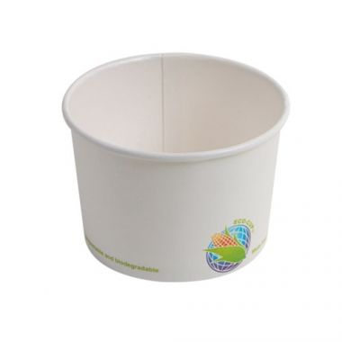 Eco-Packaging® Compostable Paper Soup Cup, White, 8 oz (1000/CS)- RFS3474/EP-BHSC8