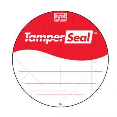 """Daymark®  TamperSeal™ Tamper-Evident Round Labels, Red / White, 3"""" (500/RL)- RFS1342/IT118674"""