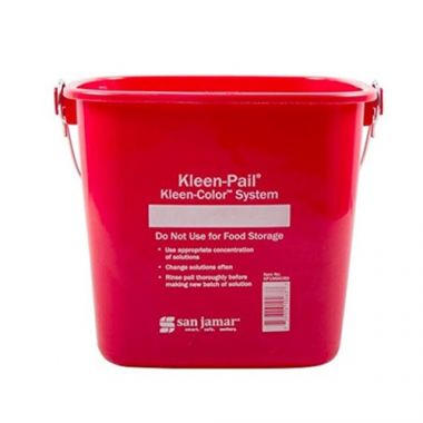 San Jamar® Kleen-Pail® Kleen Color™ Sanitizer Bucket w/ Label Space, Red, 6 Qt - RFS702/KP196KCRD
