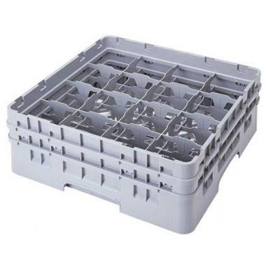 Cambro® Camrack® Glass Rack, Grey, Full Size, 16-Compartment - RFS025/16S900151