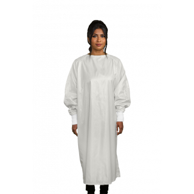 Microfiber Isolation Gown Wraparound Design LEVEL 3 - WHITE