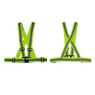 HIGH VISIBILITY ELASTIC SUSPENDED BELT-GREEN