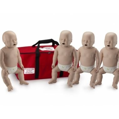 PRESTAN PROFESSIONAL INFANT MEDIUM SKIN CPR-AEDs TRAINING MANIKINS 4-PACK WITH CPR MONITOR