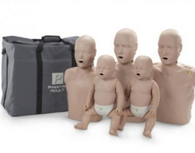 THE PRESTAN PROFESSIONAL FAMILY PACK - 2 ADULT, 1 CHILD AND 2 INFANT MEDIUM SKIN MANIKIN WITH CPR