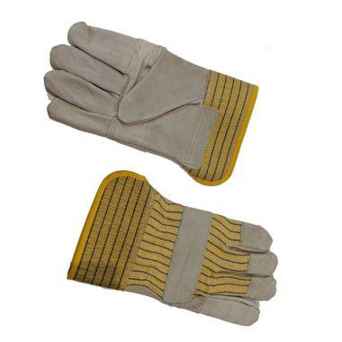 PATCHED PALM LEATHER WORK GLOVES - FULL LINING