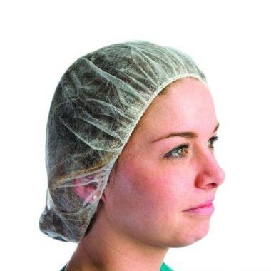 "Superior Glove Works® Superior® Bouffant Polypropylene Hairnets, White, 24""- RFS607/HNPPW24"