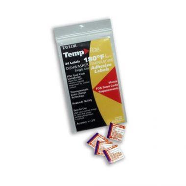Taylor® TempRite® Dishwasher Temperature Test Labels (24 labels/PK) - RFS396/8750