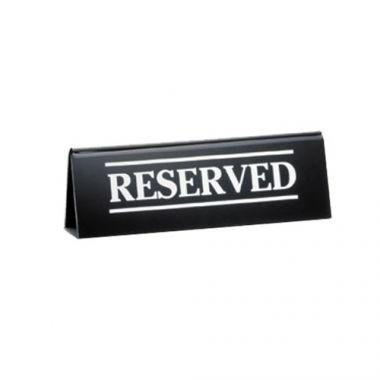 "Tablecraft® Reserve Sign Table Tent, Black, 2"" x 6"" (12EA) - RFS558/2060A"