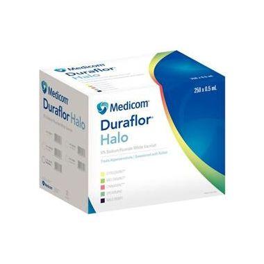 Medicom Duraflor Halo 5% Sodium Fluoride White Varnish Unit Dose Bulk Pack 250/box Spearmint