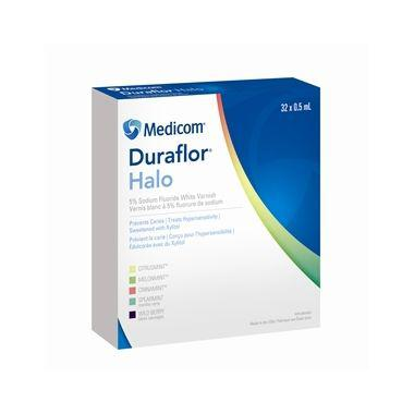Medicom Duraflor Halo 5% Sodium Fluoride White Varnish Unit Dose 32/box Spearmint