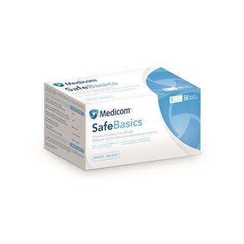 Medicom SafeBasics Earloop Mask Level 3, Blue, 50/box