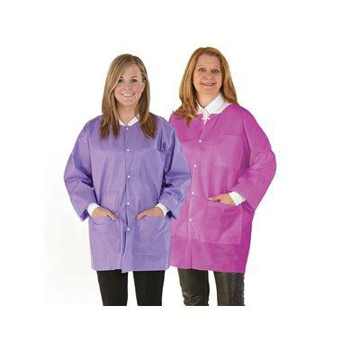Medicom SafeWear Disposable Hipster Jacket, Plum Purple, Small, 12/bag