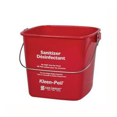 San Jamar® Kleen-Pail® Sanitizer Bucket, Red, 3 Qt - RFS702/KP97RD