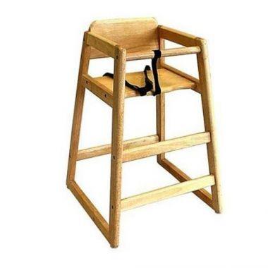 Browne® Wooden High Chair, Natural - RFS016/80973