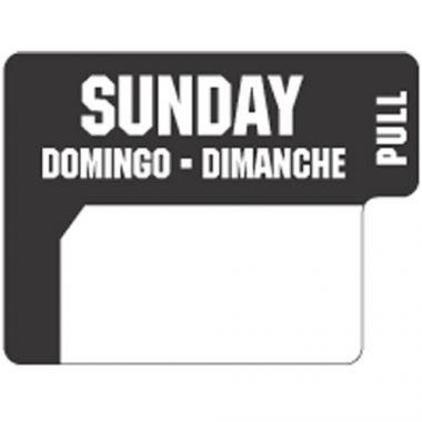Ecolab® DuraLabel Day Sticker, Sunday - RFS240/10136-07-31