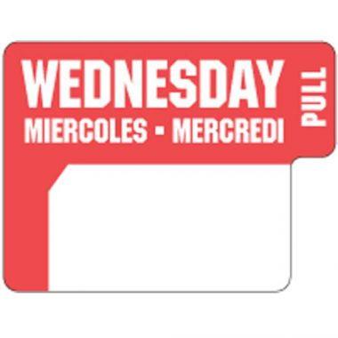 Ecolab® DuraLabel Day Sticker, Wednesday - RFS240/10136-03-31