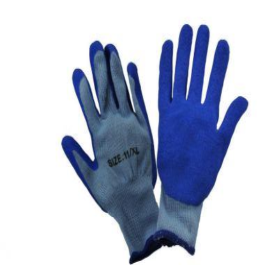 BLUE LATEX WORK GLOVE - PALM COATED