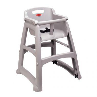 Rubbermaid® Sturdy Chair Youth Seat, Silver - RFS152/fg781408plat