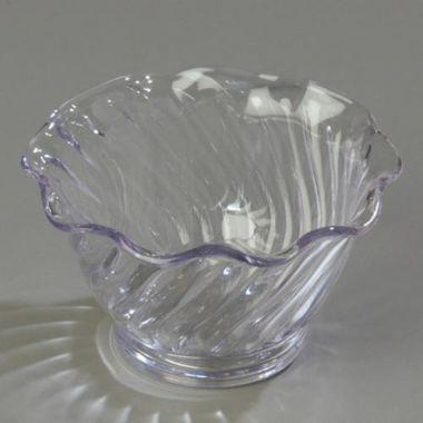 Carlisle® Plastic Tulip Dessert Dish, Clear, 5 oz - RFS376/4530 CLEAR