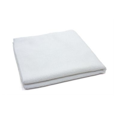 "Gold + Cross Microfiber Cleaning Cloth 16""x 16"" White – Pack of 24"