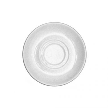 "Continental® Polaris Plain White Double Well Saucer, 6"" - RFS674/51CCPWD007"