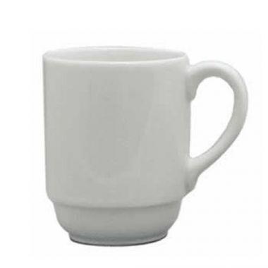 Continental® Polaris Plain White Stacking Mug, 10 oz - RFS674/50CCPWD043