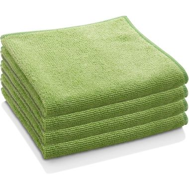 "Gold + Cross Microfiber Cleaning Cloth 14""x 14"" Green – Pack of 24"