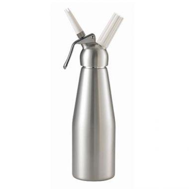 Browne® Mosa® Whipped Cream Dispenser w/ Two Nozzles, Aluminum, 32 oz - RFS016/574351