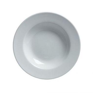 Steelite® Varick Cafe Porcelain Rim Soup Bowl, White, 10 oz - RFS066/6900E513