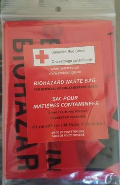 Canadian Red Cross-LARGE BIOHAZARD WASTE BAG