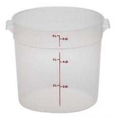 Cambro® Round Container, Translucent, 6 Qt - RFS025/rfs6pp190