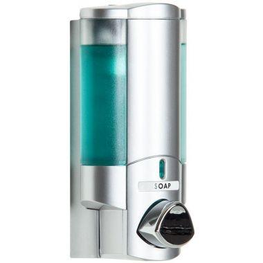 Aviva One Chamber Dispenser Translucent Satin Silver 2/Pack
