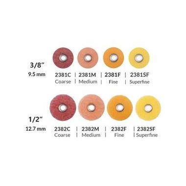 "3M ESPE Sof-Lex Extra Thin Contouring and Polishing Discs Refill 2381SF 3/8"" Yellow Superfine 85/pkg"