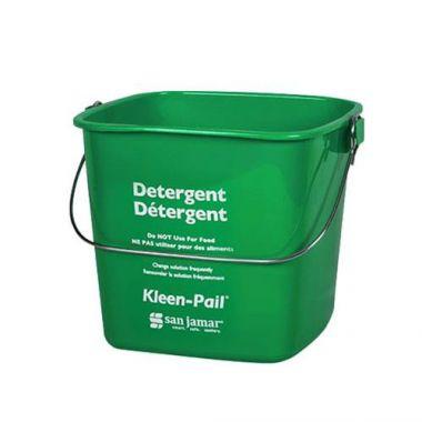 San Jamar® Kleen-Pail® Detergent Bucket, Green, 6 Qt - RFS702/KP196GN