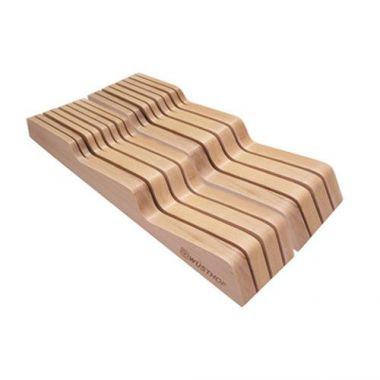 Wusthof® In-Drawer Knife Storage Tray, Beech Wood, 14 Slot- RFS051/8008