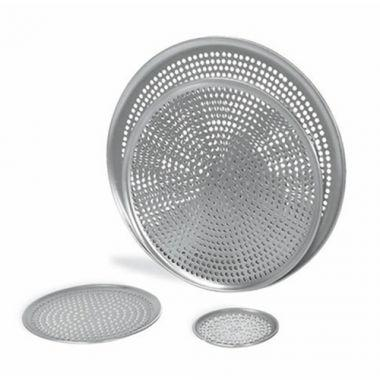 "Browne®Aluminum Perforated Pizza Tray, 17"" - RFS016/575357"