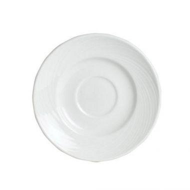 """Steelite® Spyro Single Well Saucer, White, 6.5"""" (3DZ) - RFS066/9032C985"""